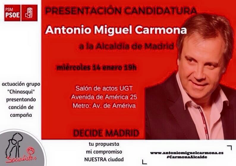 Acto presentación candidatura A.M. Carmona